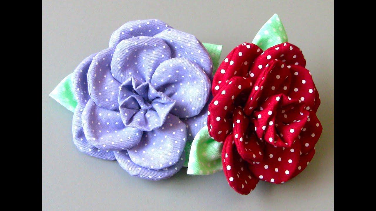 Flor Em Tecido Com 11 Petulas Passo A Passo Fabric Flower Tutorial