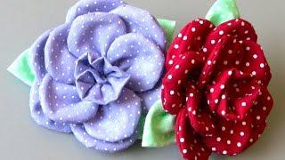 Flor em tecido com 11 pétalas Passo a Passo – Fabric flower tutorial