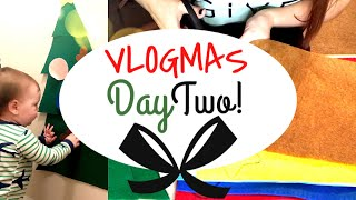 VLOGMAS DAY 2: TODDLER CRAFTS + DOLLAR TREE CHRISTMAS HAUL