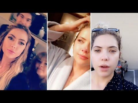 Ashley Benson   Snapchat Videos   October 26th 2016   ft Entire PLL Cast