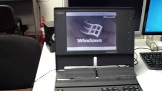 Принтер встроен в ноутбук (CANON NoteJet 486)(Нашел в закромах вот такой, интересный, ноутбук 1993 года. update 18.02.2015. Принтер починил, картирдж нашёл на ибэее,..., 2015-02-18T06:00:01.000Z)
