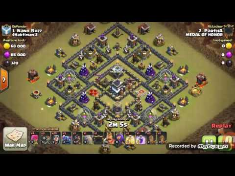 Coc Th 9 max base easy 3 star.New GOWIPE attack.