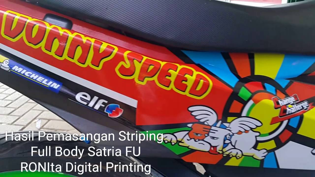 Striping Full Body Satria Fu Motif Rossi