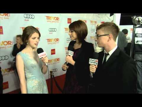Anna Kendrick and Brittany Snow Red Carpet Interview Trevor Live 2012