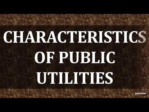 CHARACTERISTICS OF PUBLIC UTILITIES