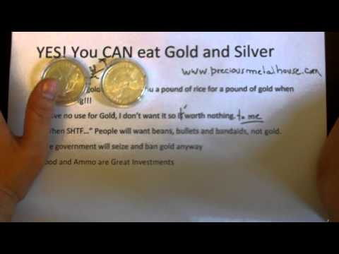 YES! You CAN eat Gold and Silver