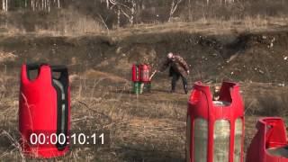 Взрыв газовых баллонов.  Безопасные газовые баллоны(, 2013-10-18T08:57:01.000Z)