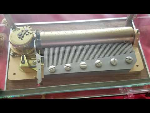"REUGE 3/72 NOTE MUSIC BOX PLAYS ""PIANO CONCERTO NO. 2"" in 3 Parts BY TCHAIKOVSKY"