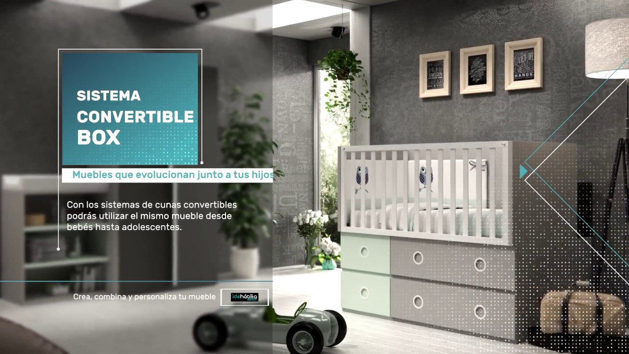 IDEHÁBITA - Cuna convertible Sistema BOX 2 - YouTube