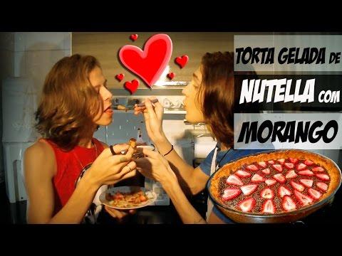 COMO FAZER TORTA DE NUTELLA COM MORANGO