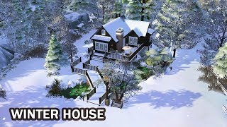 The Sims 4 | House Building (Stop Motion) | Winter House