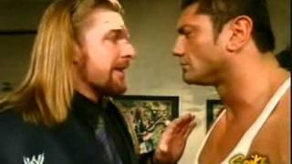 Triple H talking with Batista post New Year