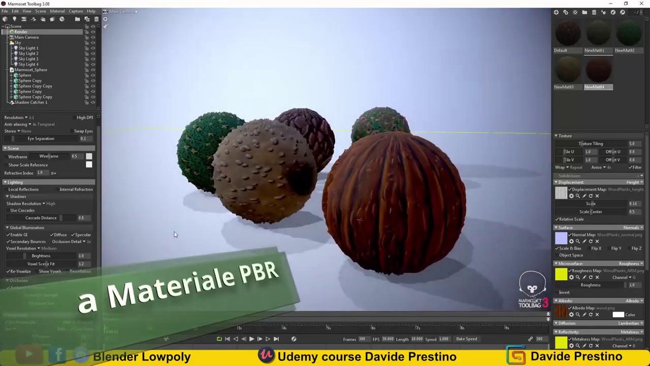Materiali PBR disegnati a mano, new Udemy Course (Ita Version)