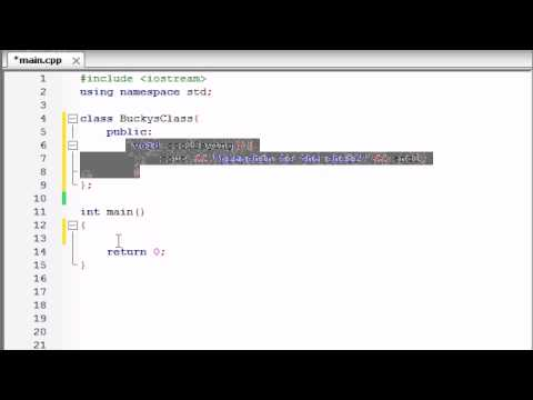 Buckys C++ Programming Tutorials - 12 - Introduction to Clas