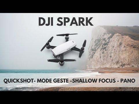 DJI SPARK: Quikshot/ Geste/ Shallow focus/ Panoramique