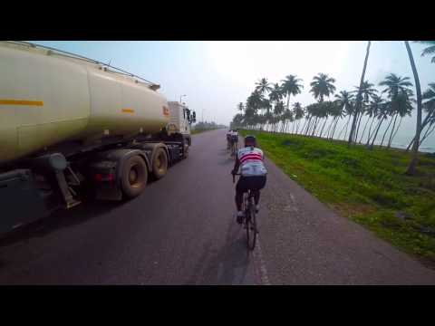 Road Biking in Ghana - Elmina to Accra (extended cut)