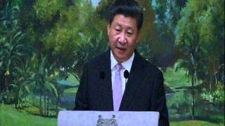 chinese president xi jinping speaks at the istana