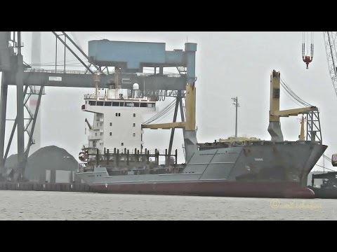 cargo craneship FAABORG ex MISSUNDE ex MSC LONGONI V2BF4 IMO 9264726 Emden 0