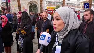 قوة من المستعربين تعتقل 4 فلسطينيين أثناء مسيرة احتجاجية على قرار ترمب بشان القدس - (13-12-2017)