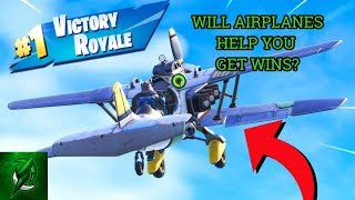 Using Airplanes to get the Victory Royale! (Fortnite)