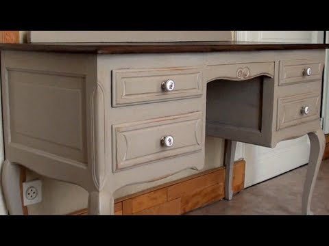 Patine sur meuble ancien tutoriel 2 hd720p youtube for Ceruser un meuble ancien