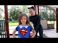 SUPERGIRL SAVES THE DAY | Superhero girl