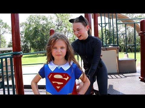 SUPERGIRL SAVES THE DAY   Superhero girl