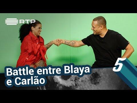 Battle Entre Blaya E Carlão | 5 Para A Meia-Noite | RTP