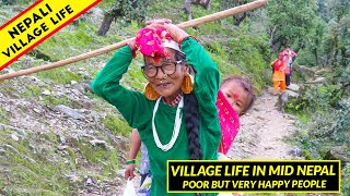 Village Life of Midwest Nepal   Poor but Very Happiest People   IamSuman