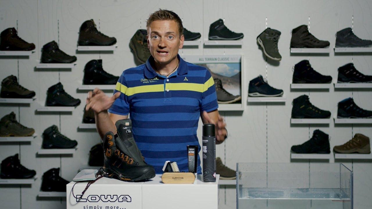 Pflegetipps, Wellness für die Schuhe   LOWA DE