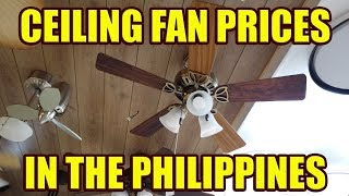 Ceiling Fan Prices In The Philippines.