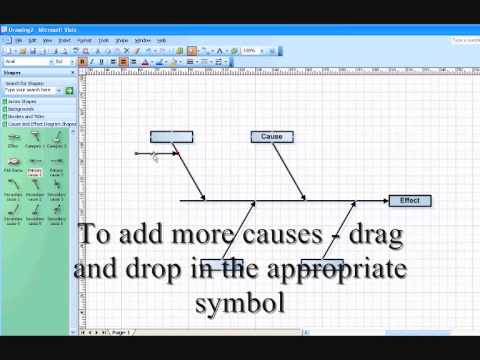 Example cause and effect diagram using visio  YouTube
