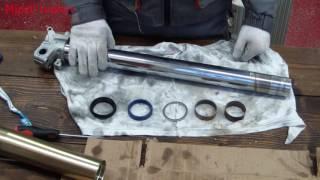 Ремонт и обслуживание мотоцикла crf250r. Обслуживание передней подвески (вилки).