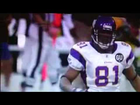 Adrian Peterson runs over Al Harris