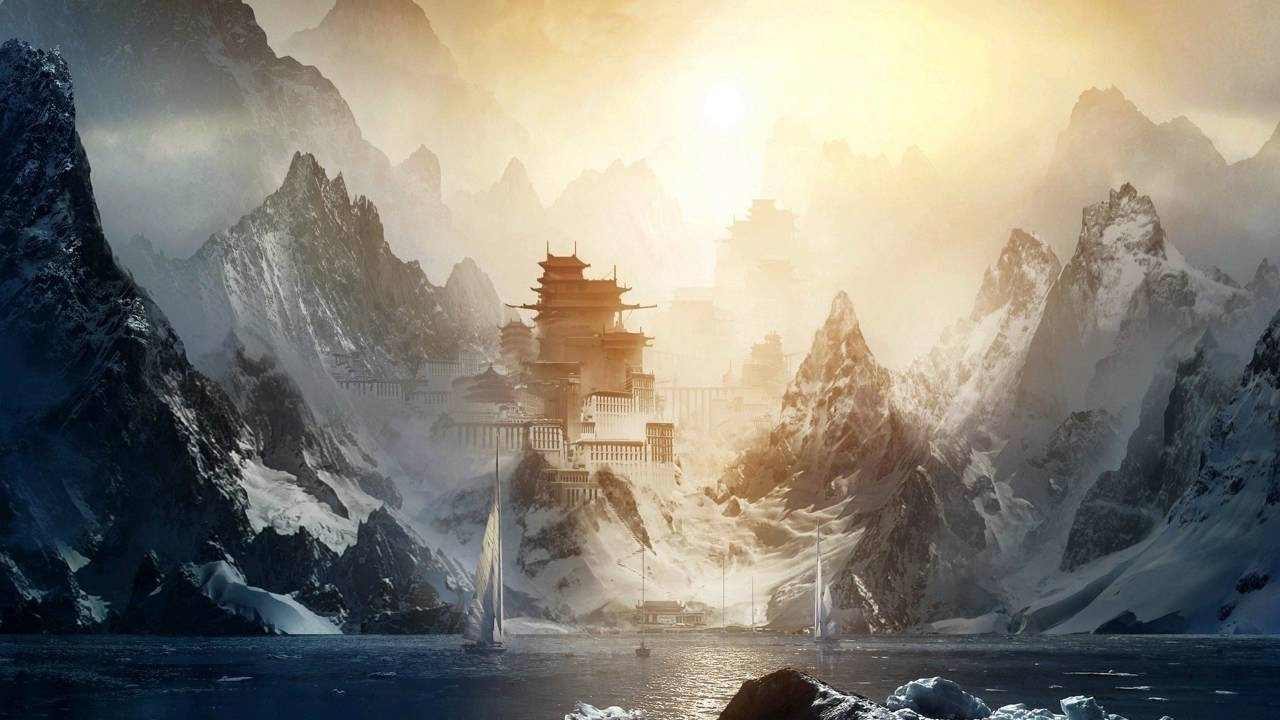 Beautiful Chinese Girl Painting Wallpaper Gothic Storm Music Golden Age Epic Uplifting Heroic