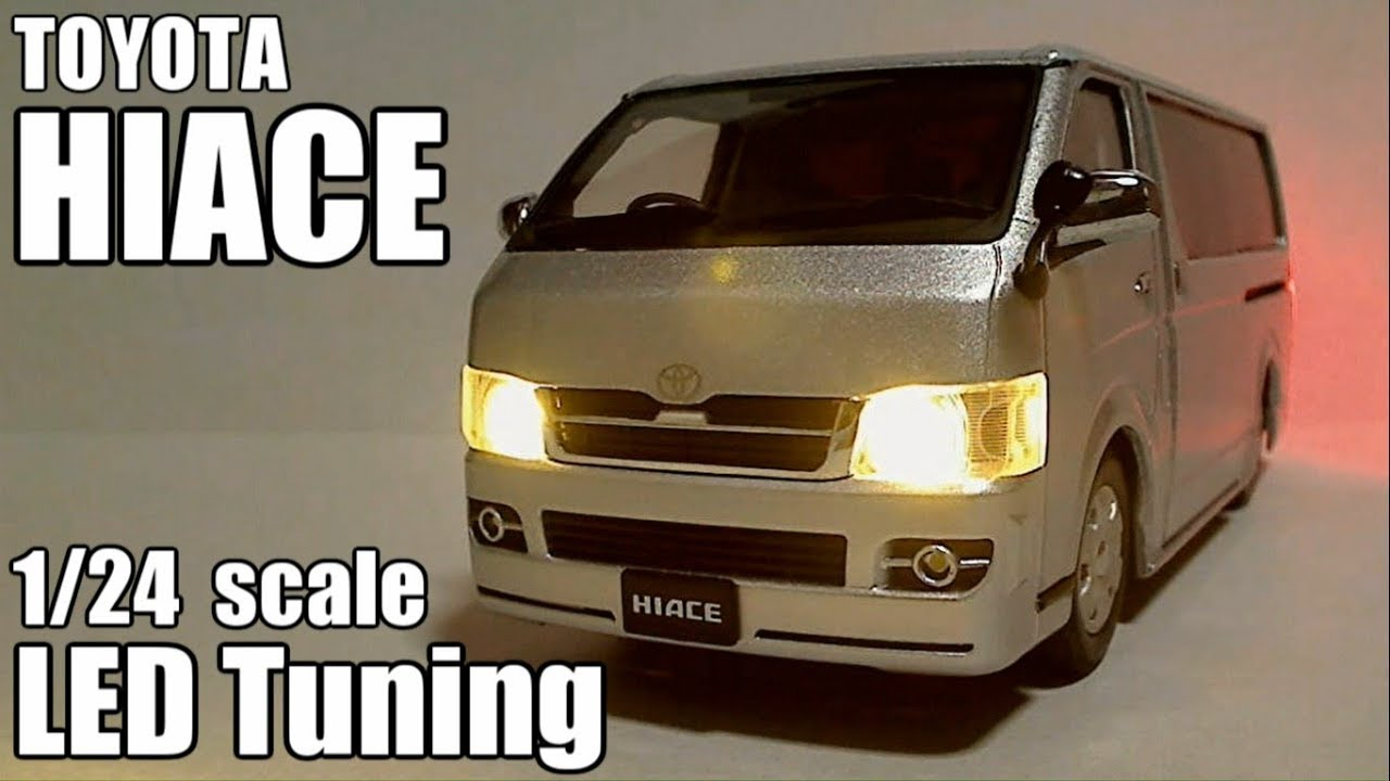 1 24 Scale Toyota Hiace Led Tuning Youtube