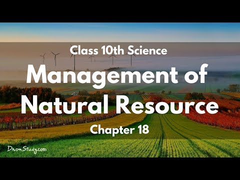 Management of Natural Resource : CBSE Class 10 X Science