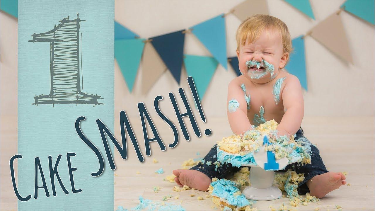 1st Birthday Cake Smash Youtube