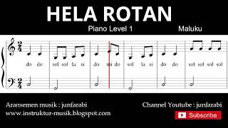not balok hela rotan - piano level 1 - lagu daerah maluku / ambon - do re mi / sol mi sa si