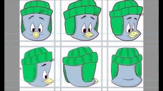 Рисуем мультяшного пингвина, голову во всех ракурсах поворота, на графическом планшете(Как научиться рисовать!? Да очень просто, надо много рисовать и учиться по обучающим видео, и обязательно..., 2014-11-06T16:25:37.000Z)