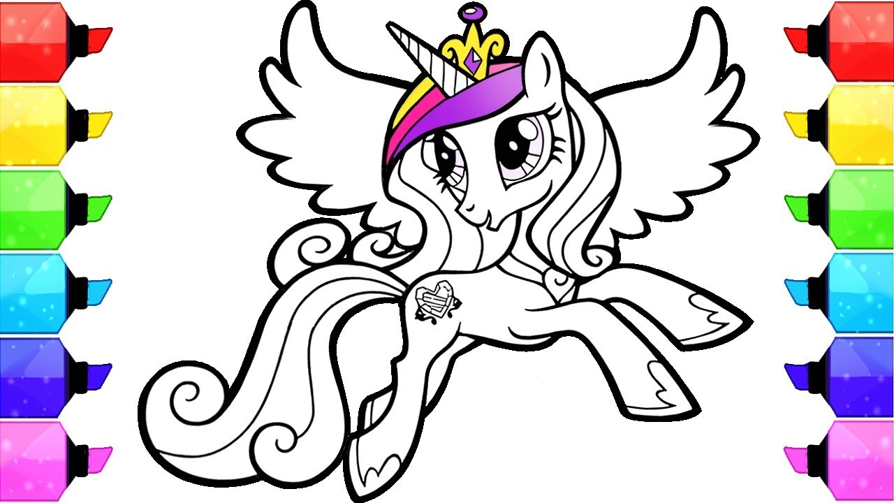 My Little Pony Coloring Book Pages Cadence How To Draw And Color