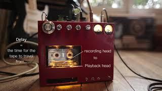 DIY cassette tape delay / echo (stereo)