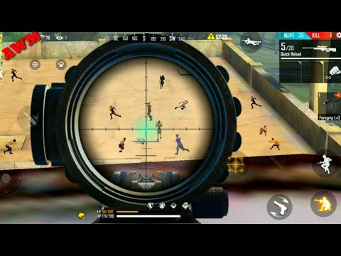 Free Fire sniping from top of factory - FF fist fight on factory /booyah gameplay [Garena free fire]
