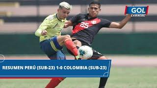 Perú Sub-23 vs Colombia Sub-23 (1 - 0): goles, resumen y mejores acciones del partido