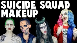 SUICIDE SQUAD MAKEUP TRANSFORMATIONS (The Joker, Harley Quinn & More)