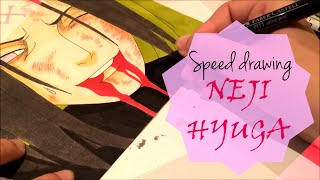Speed Drawing - Neji Hyuga Death from Naruto Shippuden