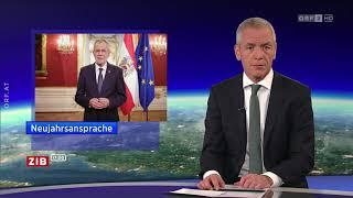 Erste Neujahrsansprache für Van der Bellen - ZIB 17:00 | Mo, 01.01.2018
