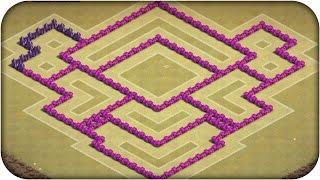 Clash of Clans Layout Guerra - Defesa CV 7  (CoC TH7) War Base