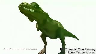 Dinosaurio bailando cállese viejo lesbiano
