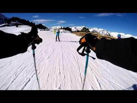 Andorra El Tarter Skiing Jan 2016